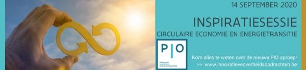 Inspiratiesessie Thematische Oproep: Circulaire Economie en Energietransitie