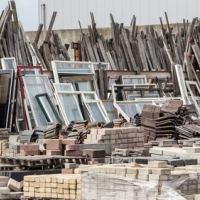 Encouraging re-use of building materials
